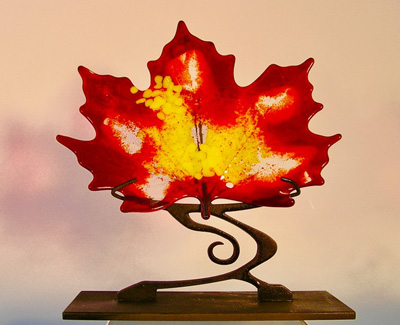 Amber and Yellow Canadian Maple Leaf